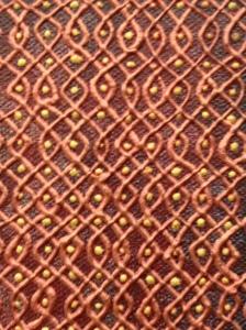 "Chandrasekar - Kolan 93X93 - Paint on Canvas - 24"" x 24"" (detail)"