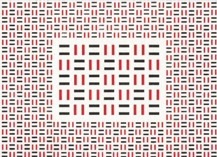 Dikko Faust - Magnified Basketweave - Hand set block print - 2013