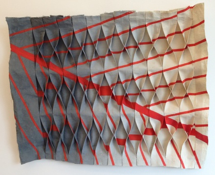 Megan Cotts - DE426689A Fig.3 - 2013 - linen  Picture courtesy of the artist and the gallery