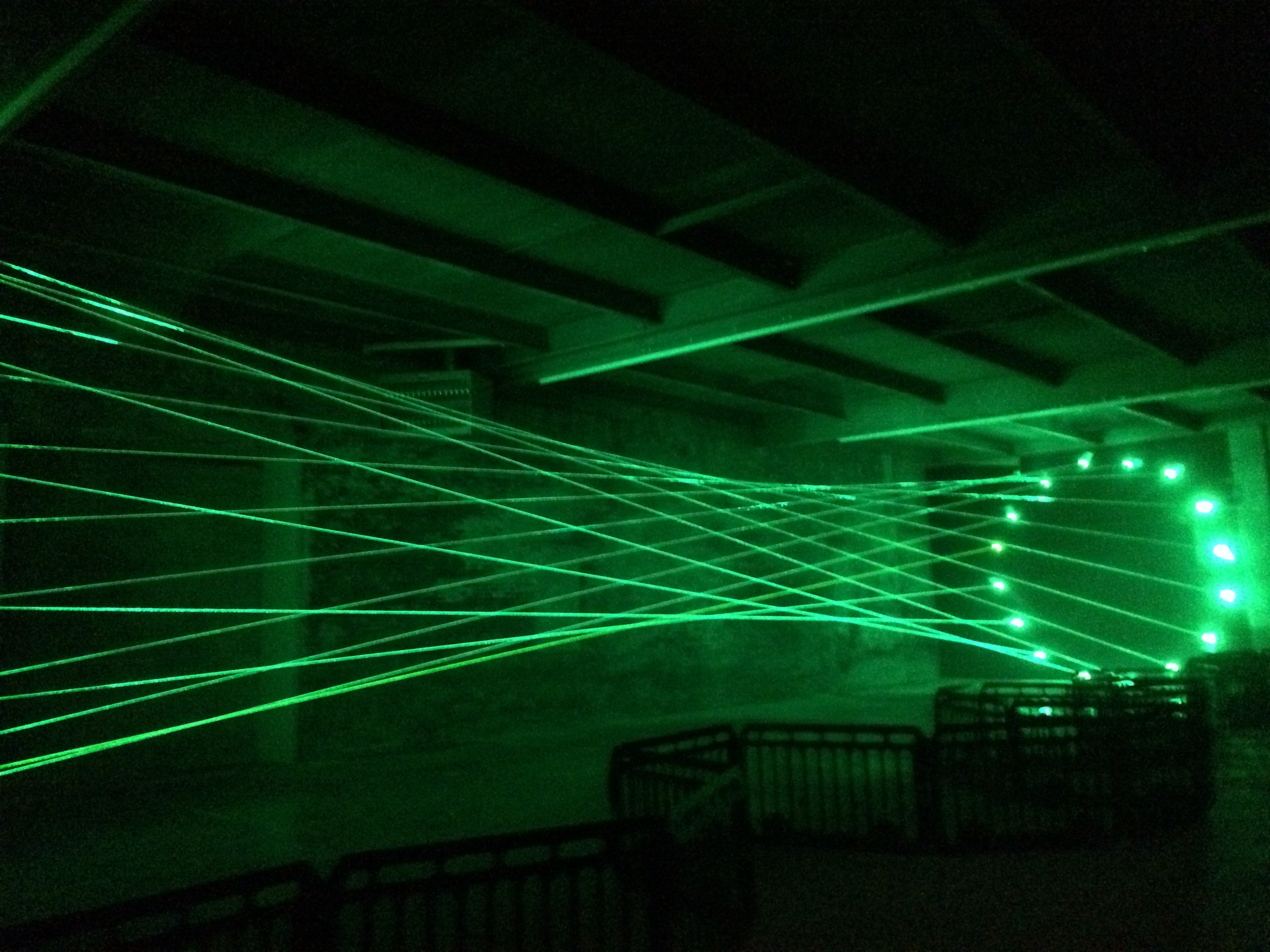 Amazing The Bright Green Laser Beams Create The Lines For This 3 D Drawing. The  Atmospheric Properties Of The Airflow In The Gallery Create A Sense Of  Motion. Awesome Design